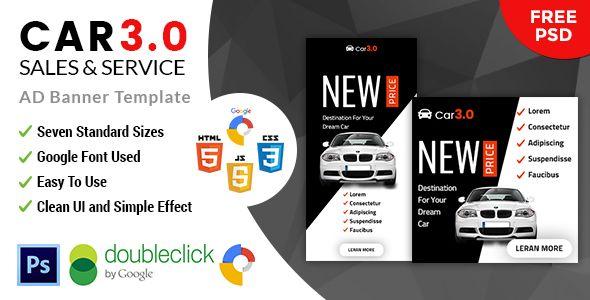Car30 Car Sale \ Rent HTML5 Google Banner Ad new html5 google - car ad template
