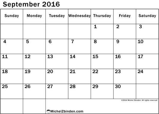 free september 2015 calendar template