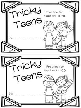 Tricky Teen Numbers Book: Practice for numbers 11-20
