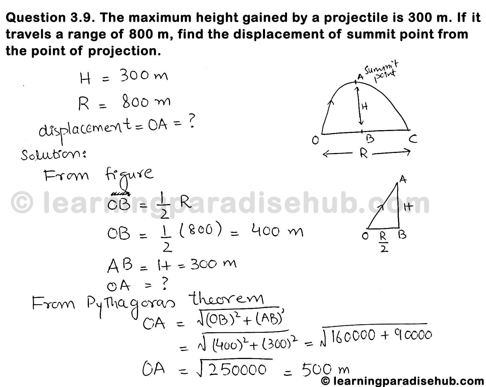 Teach Besides Me Projectile Motion Max Height