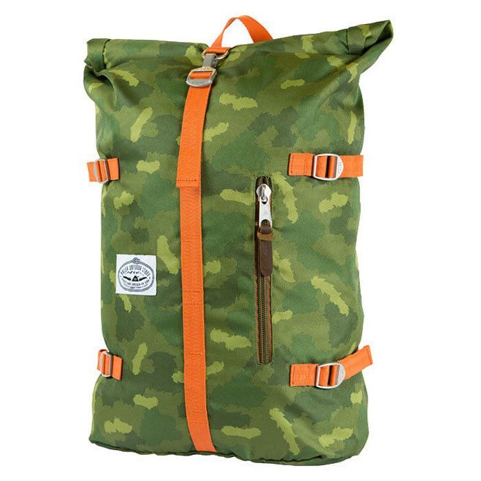 Poler  Rolltop Backpack - Green Camo  8bf98be8be524