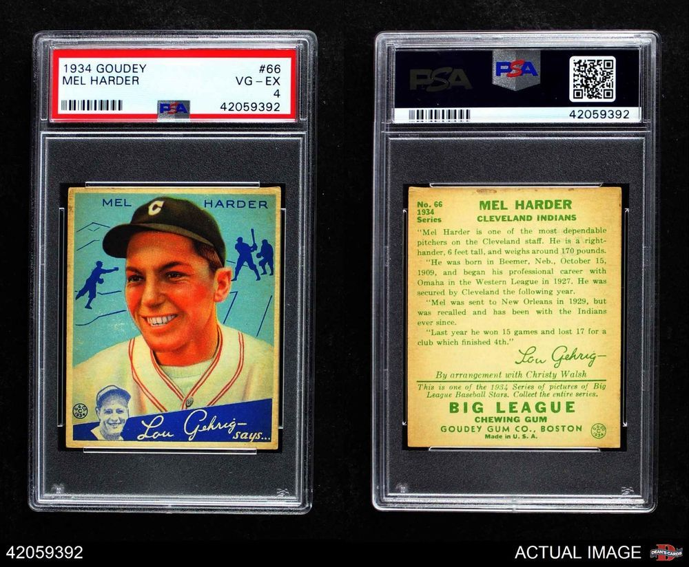 Pin on 1934 Goudey Graded Cards