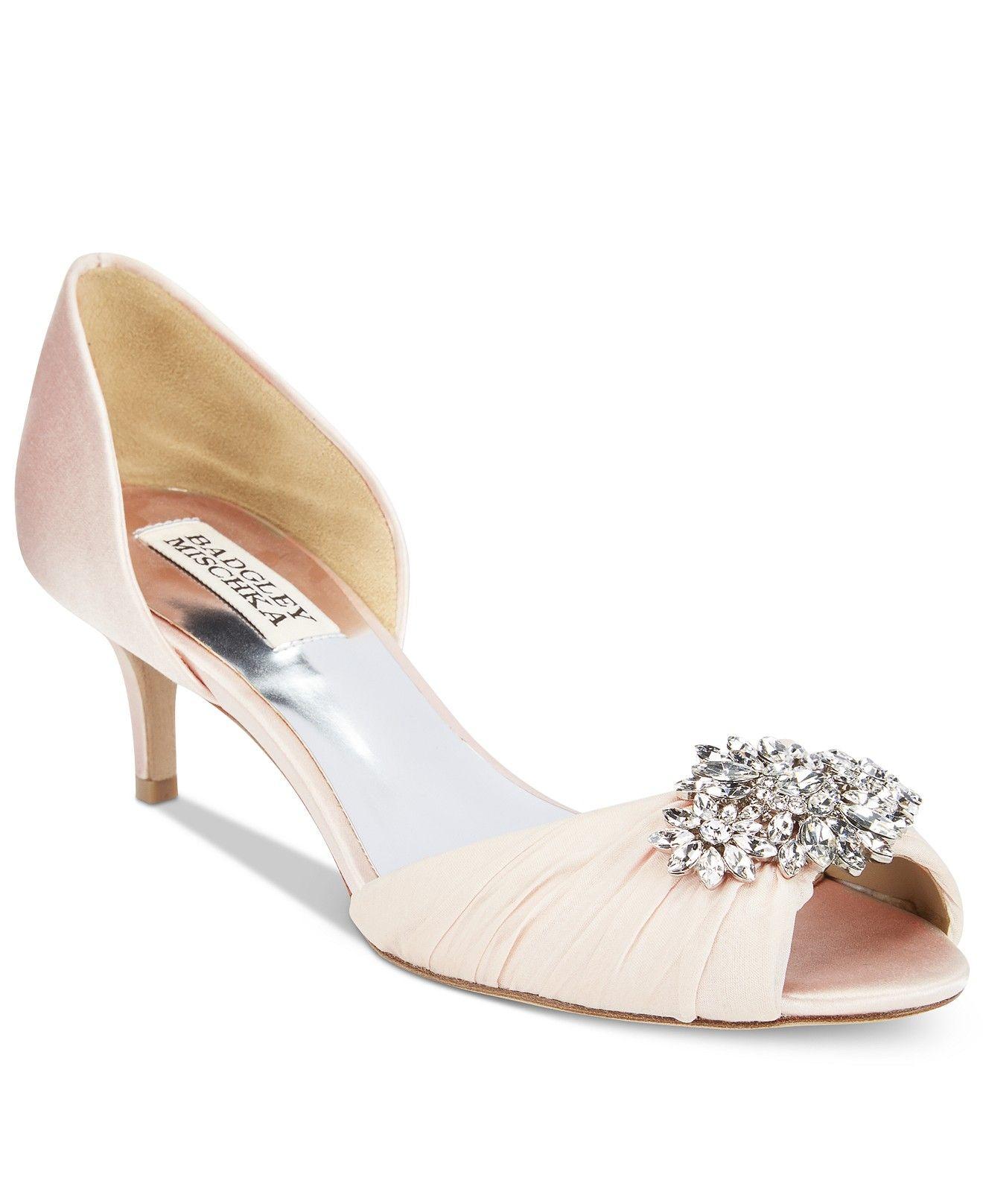 Badgley Mischka Caitlin Embellished D Orsay Pumps Evening Bridal Shoes Macy S Wedding Shoes Heels Bridal Shoes Boho Wedding Shoes