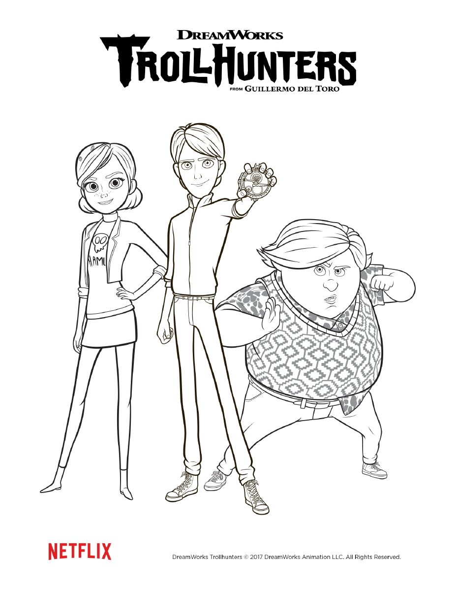 Coloring Page | TROLLHUNTERS in 2020 | Cool coloring pages ...