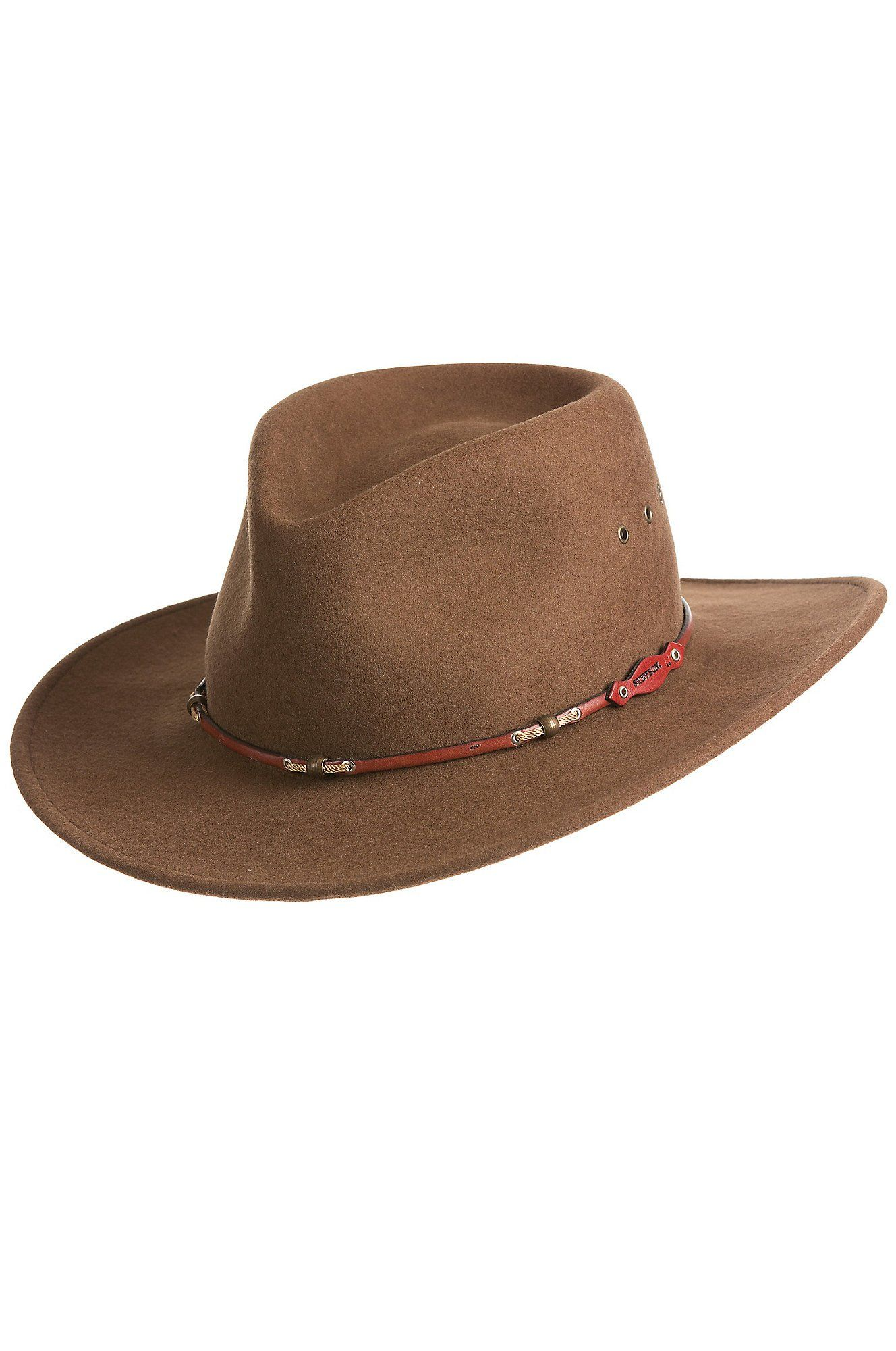 Stetson Mens Wildwood Acorn Crushable Wool Felt Hat Acorn Medium -- Learn  more by visiting the image link. (This is an affiliate link)  HashTag2 1dd71d4058e