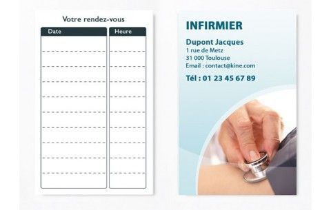 Cartes De RDV Simples N4 Infirmier