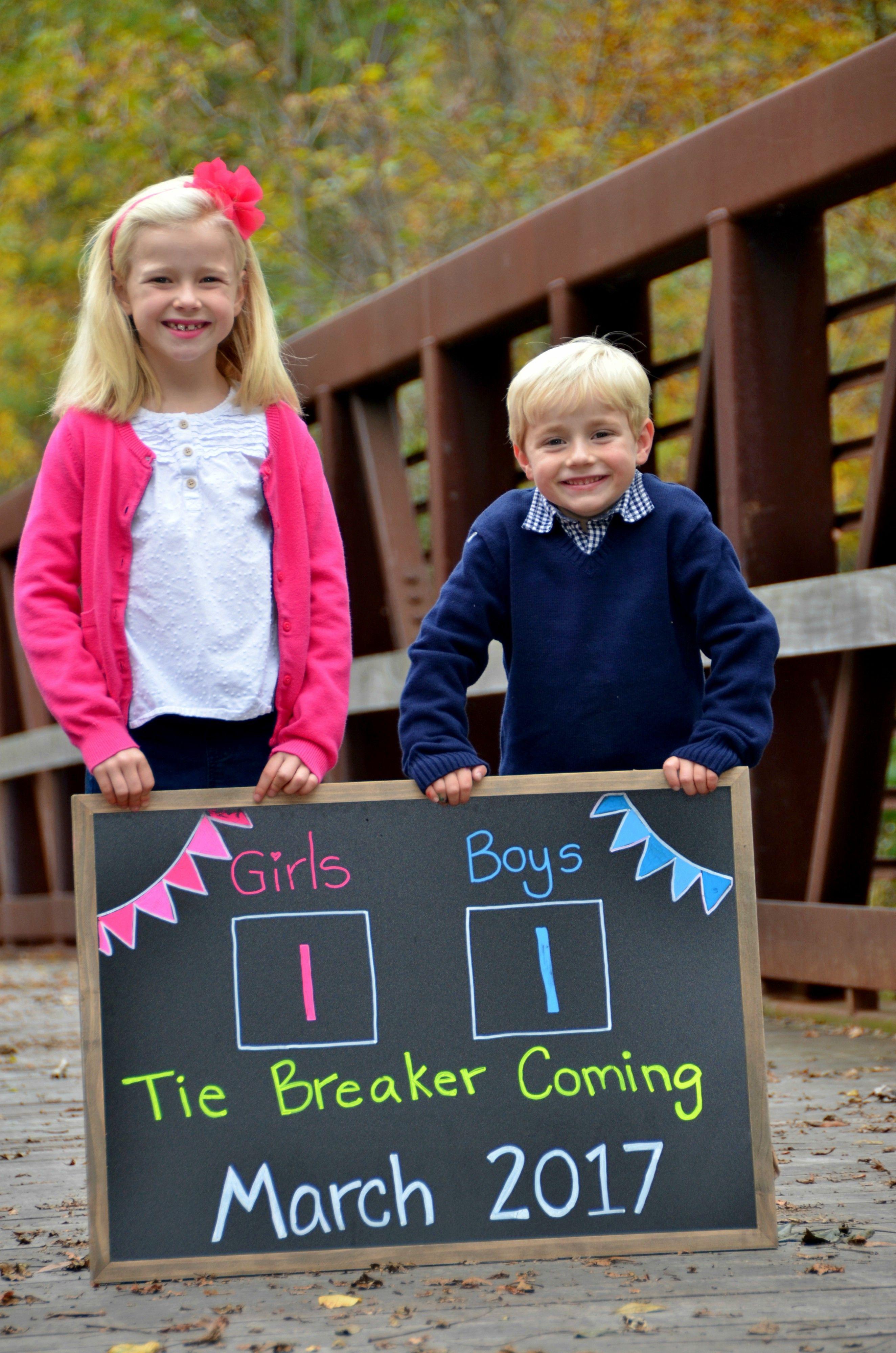 Tie breaker baby baby announcement | Baby announcement to ...