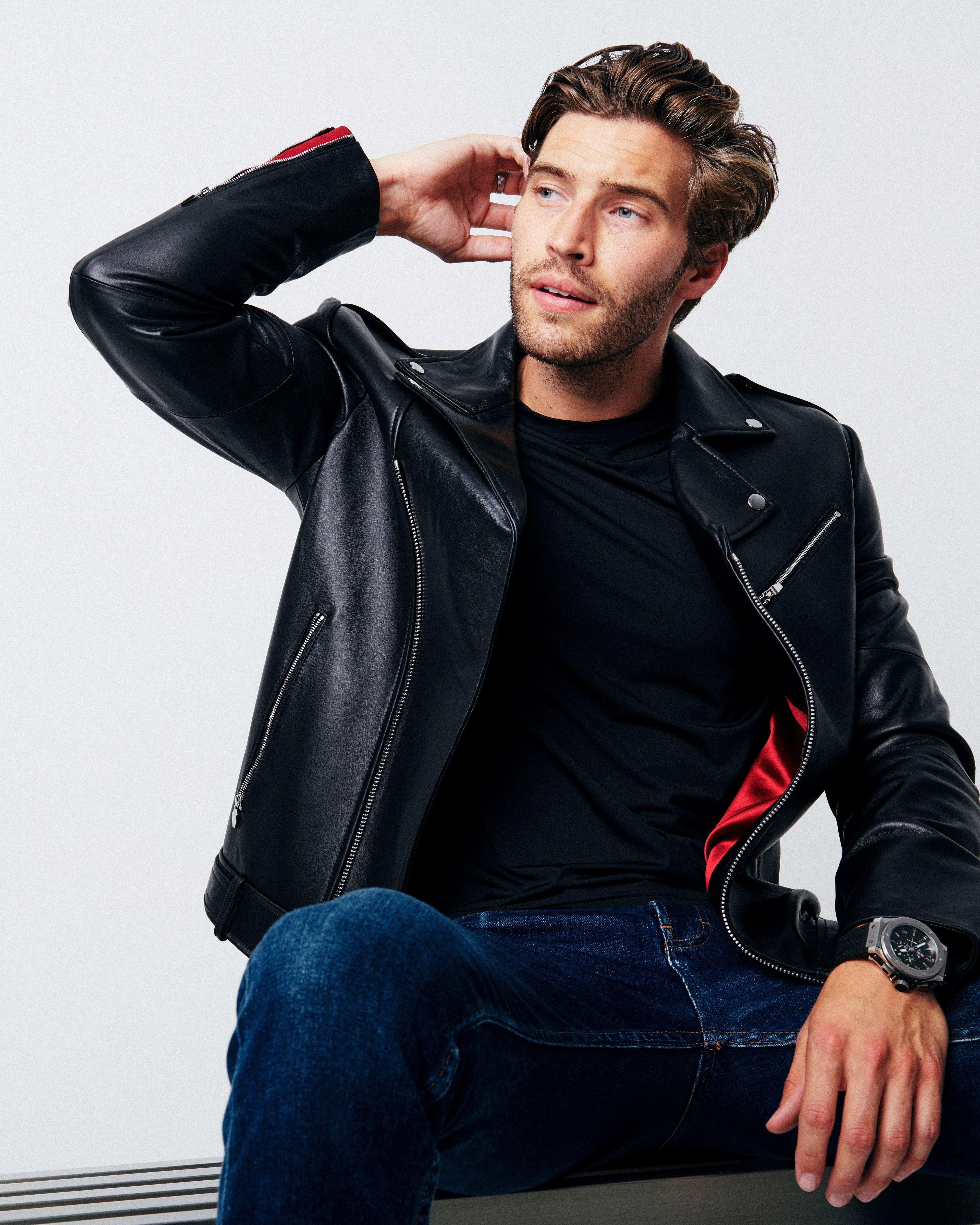 APOLLO Leather Moto Jacket in 2020 | Leather jeans men