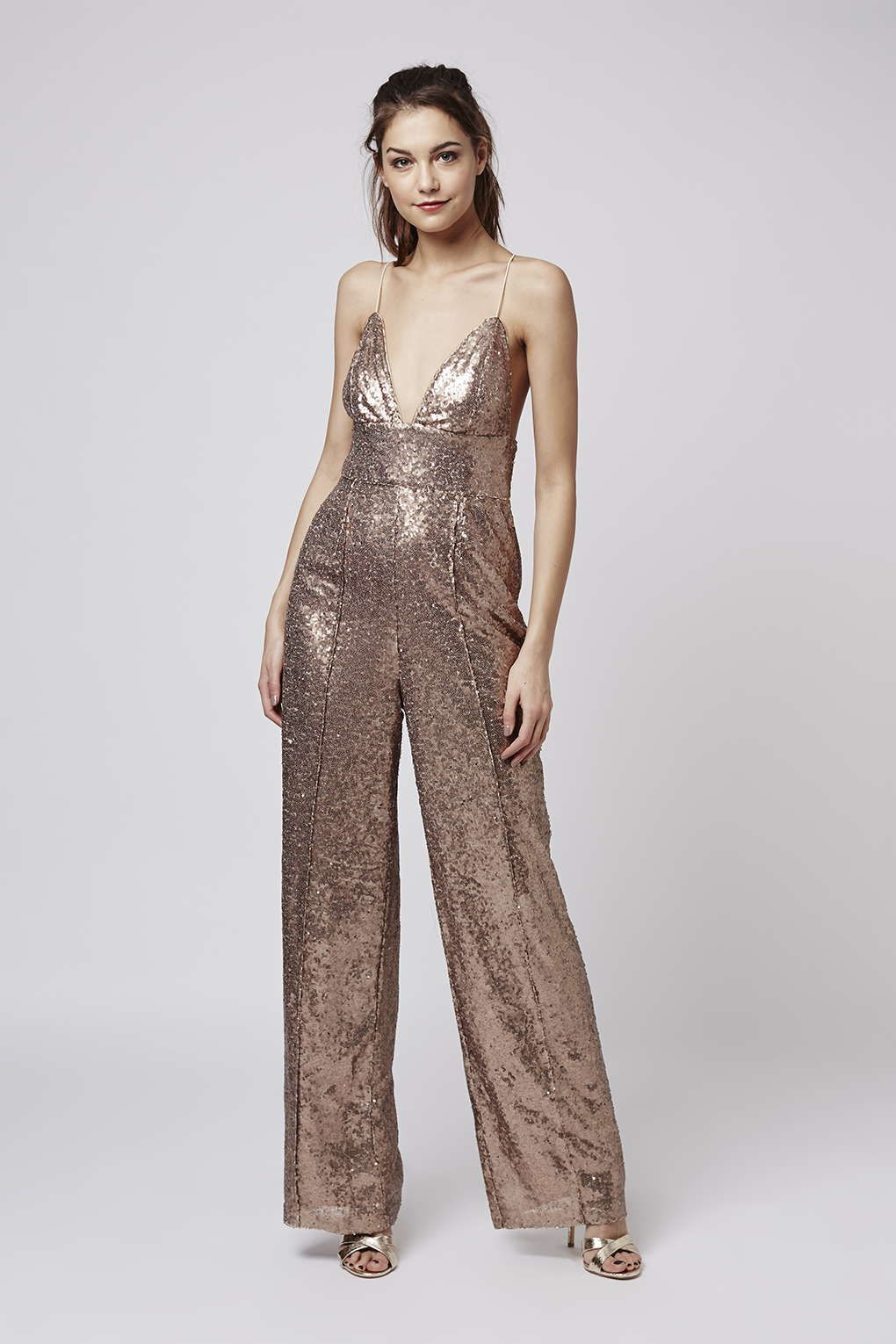 7bbc958b52c   All-Over Sequin Plunge Jumpsuit by Rare - Topshop