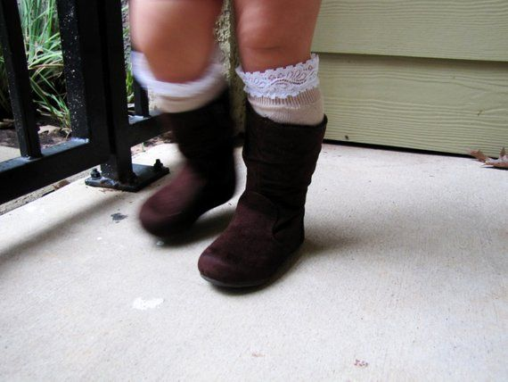 a4eb6d4cd Toddler girl lace boot socks