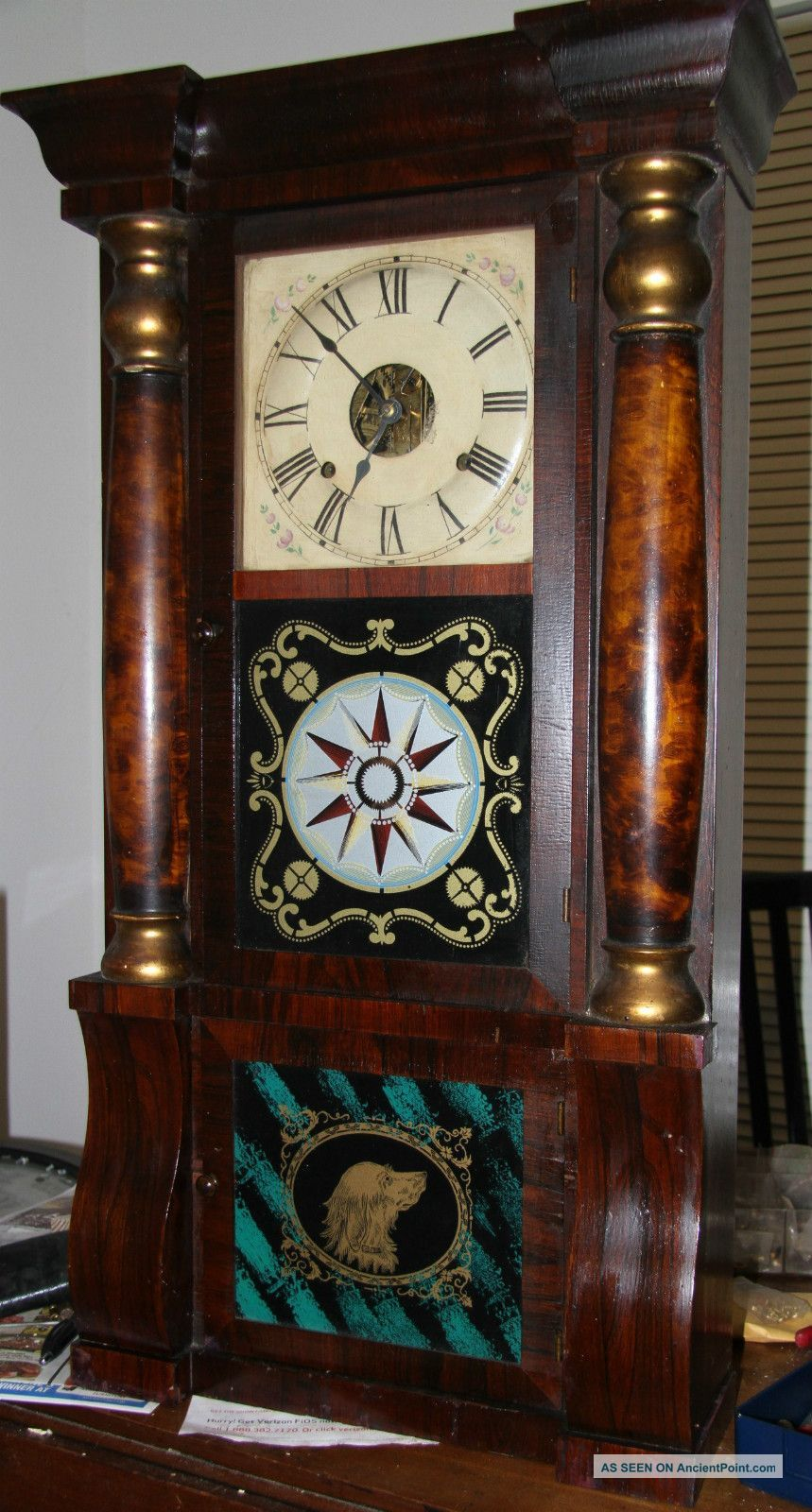 Magnificent Seth Thomas Shelf Clock - Weight Clocks photohttp://ancientpoint.com/