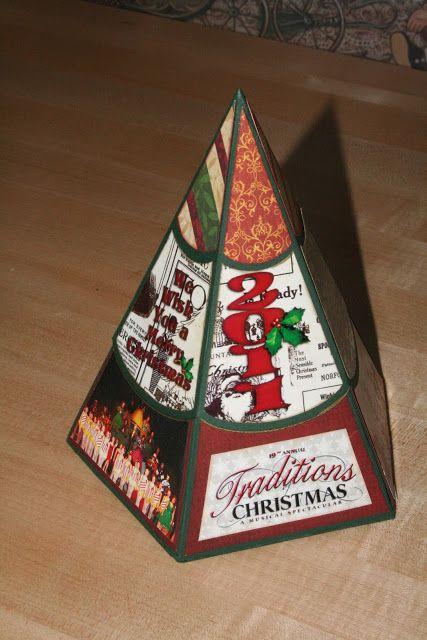 Christmas Tree Explosion Box Exploding Box Card Explosion Box Christmas Cards Handmade