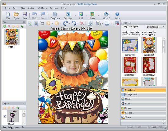Programa Para Hacer Collages Gratis Tarjetas De Felicitacion