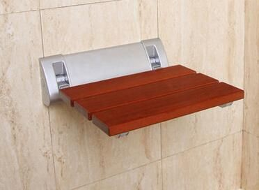 Solid Wood Folding Shower Seat Spacing Saving Wall Mounted Morden