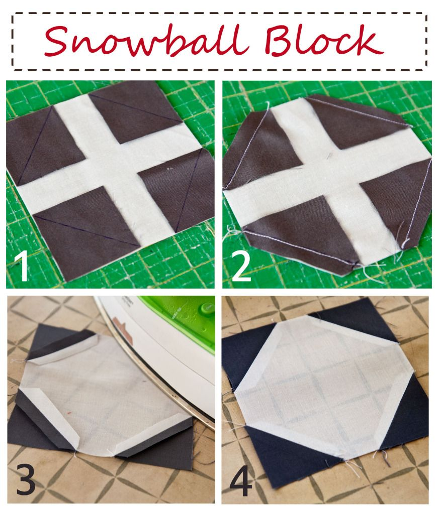 How to make a snowball quilt. Easy!