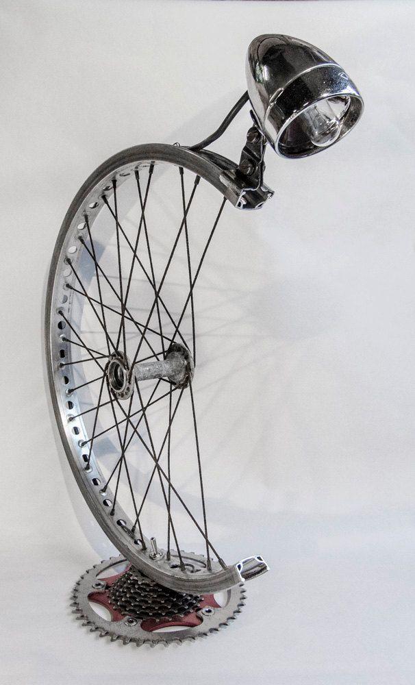 Bespoke Bicycle Desk Lamp Idee Deco Recyclage Lampe Velo Et