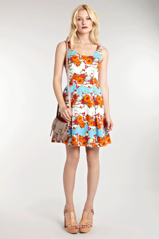 Floral Stripe Prom Dress - Warehouse £50.00