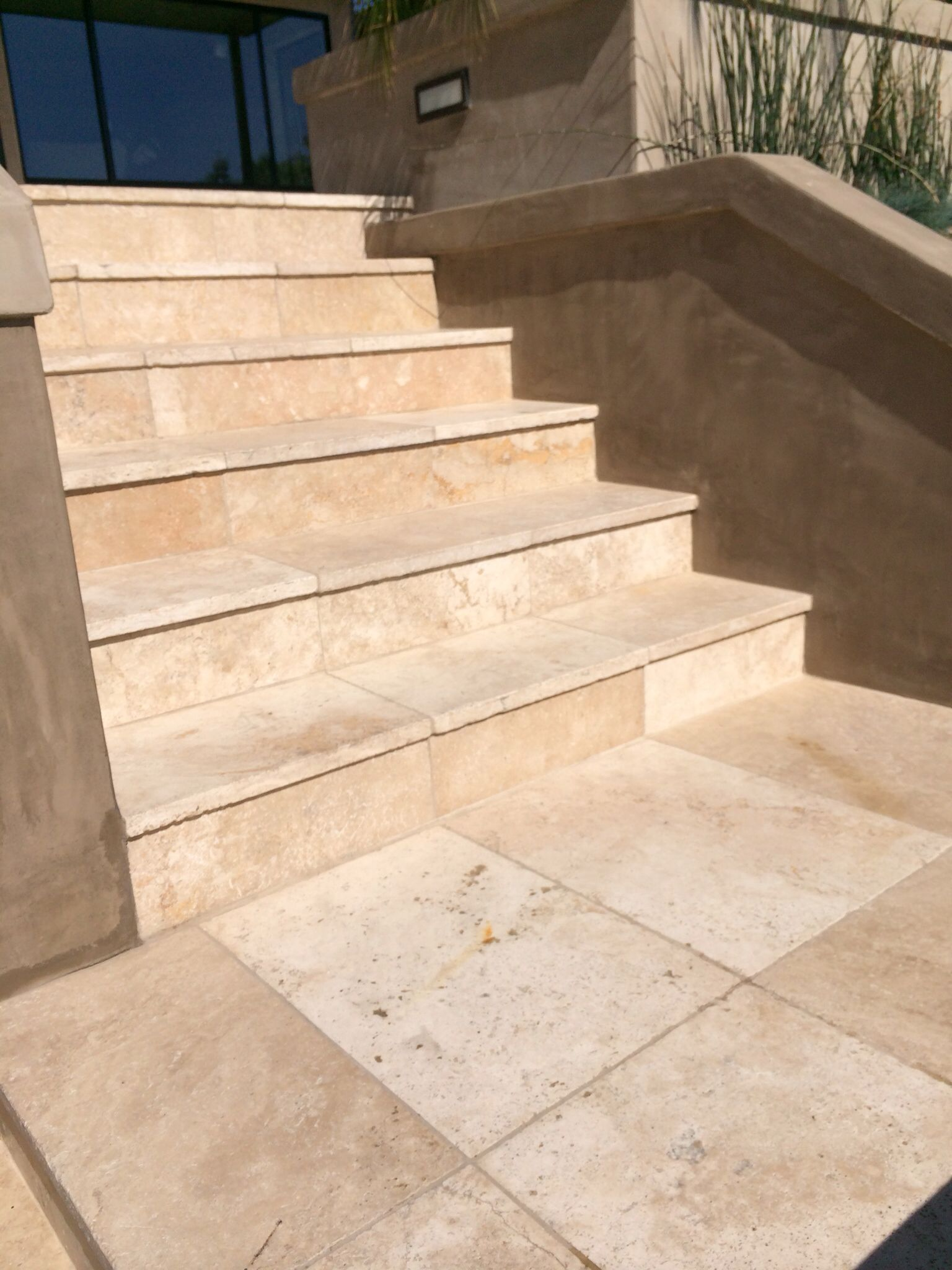 Travertine stairs