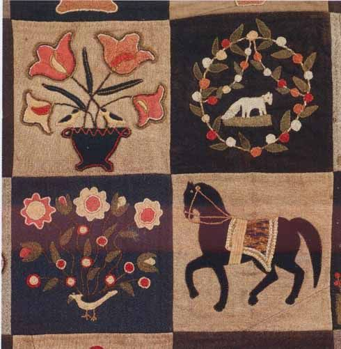 Summer Quilt detail, c.1850. Made by Emily L. Wiley Munroe. Lynnfield. Massachusetts Quilts, Our Common Wealth.