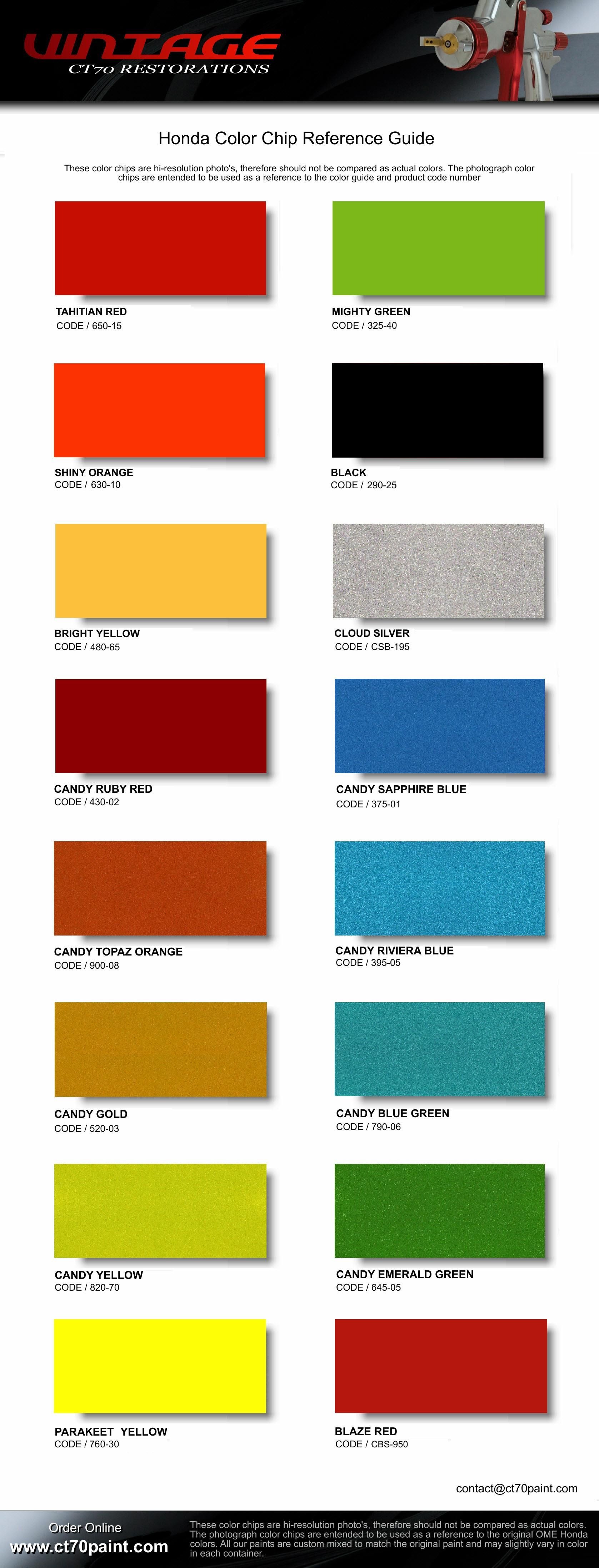 Honda paint color chart gallery free any chart examples honda paint chips honda z 50 pinterest paint chips and honda honda paint chips nvjuhfo gallery nvjuhfo Choice Image
