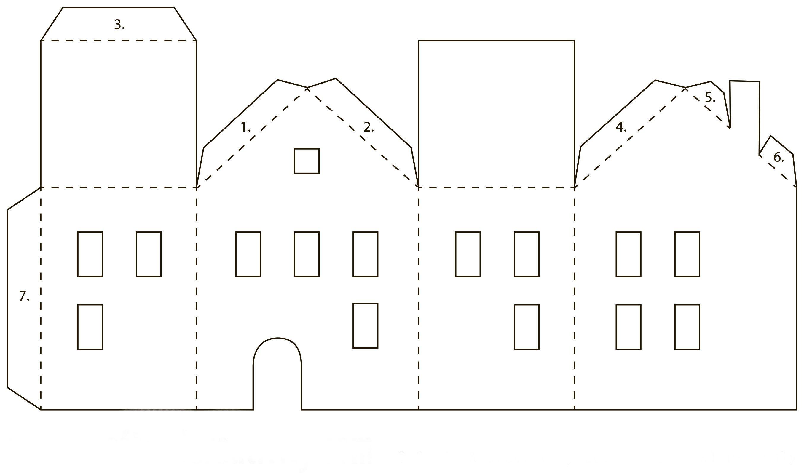 Бумажные домики своими руками схема