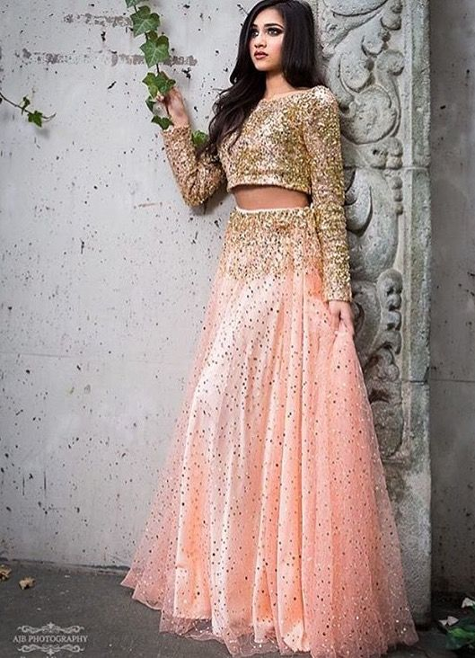 Peach lengha | Traditional Fashion | Pinterest