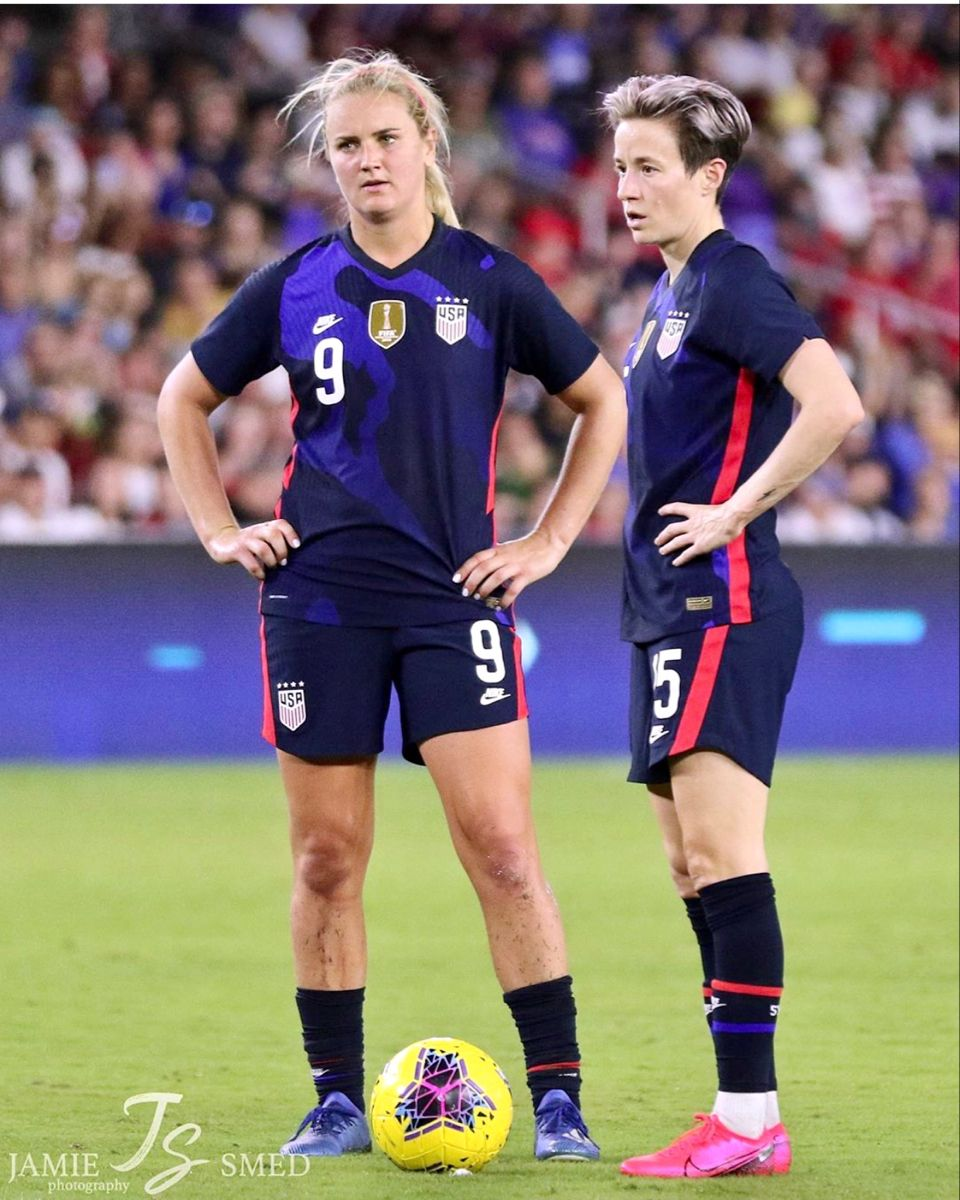 Lindsey Horan 9 And Megan Rapinoe 15 Uswnt Usa Vs England 2020 She Believes Cup March 5 2020 In O In 2020 Usa Soccer Women Us Women S National Soccer Team Uswnt