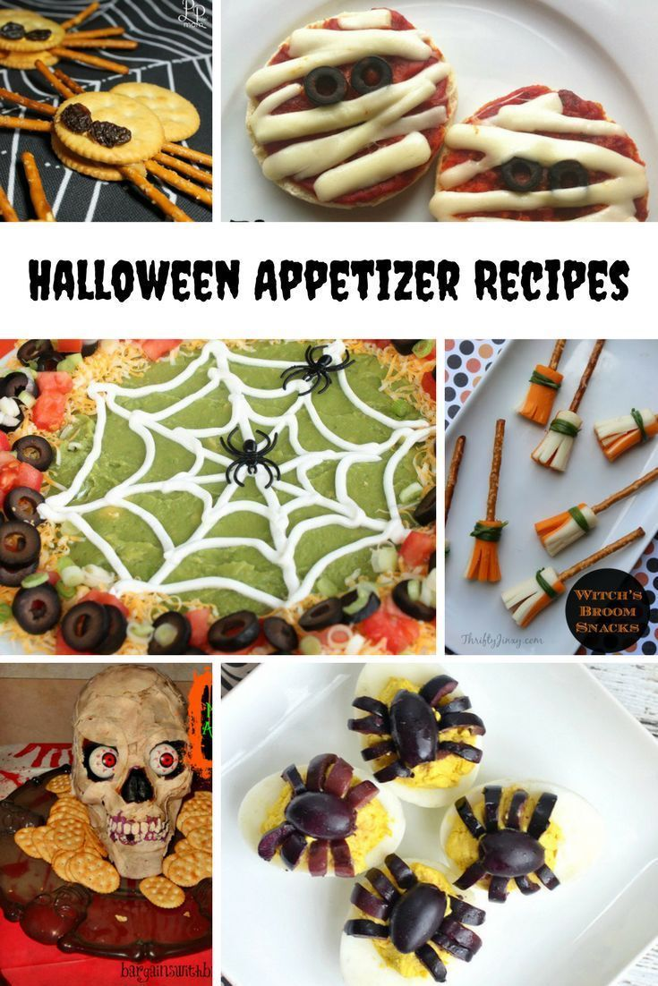 Halloween Party Appetizer Recipe Ideas | Halloween party ...