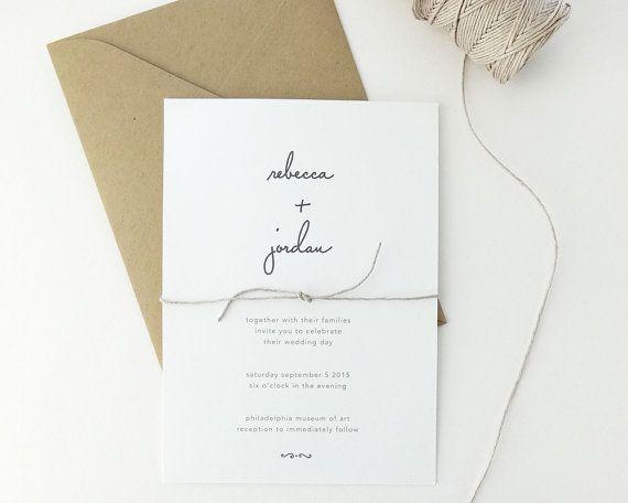 Simple Wedding Invitations Pinterest