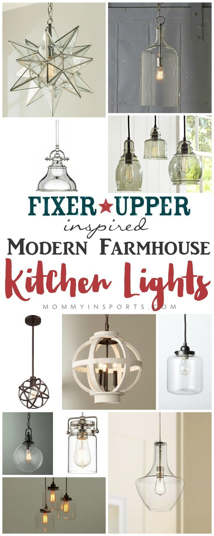 Looking for a fixer upper inspired modern farmhouse kitchen light check out this list of affordable options that will liven up your kitchen