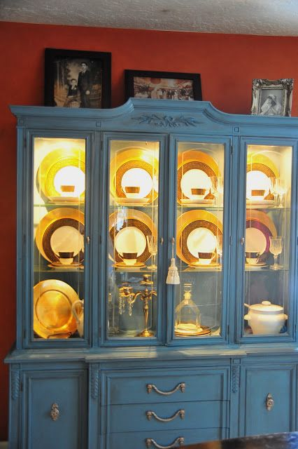 Ordinaire Diy China Cabinet   Lighting Inside And Painted