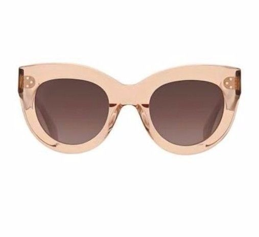 12084b17d359 CÉLINE Caty Women s Transparent Antique Pink Cat eye Sunglasses 100%  Original!! 762753470904