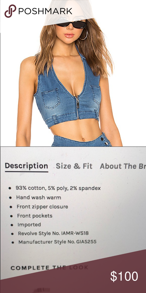 rare. I.Am.Gia denim vest crop top 2000s Britney vibes. Sold out everywhere. Never worn. Size XS. As seen on Alexa Demie / Maddy in Euphoria. I.AM.GIA Other #maddyeuphoriaoutfits