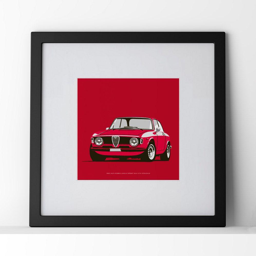 1965 Alfa Romeo Giulia Sprint 1600 GTA Framed Print. By