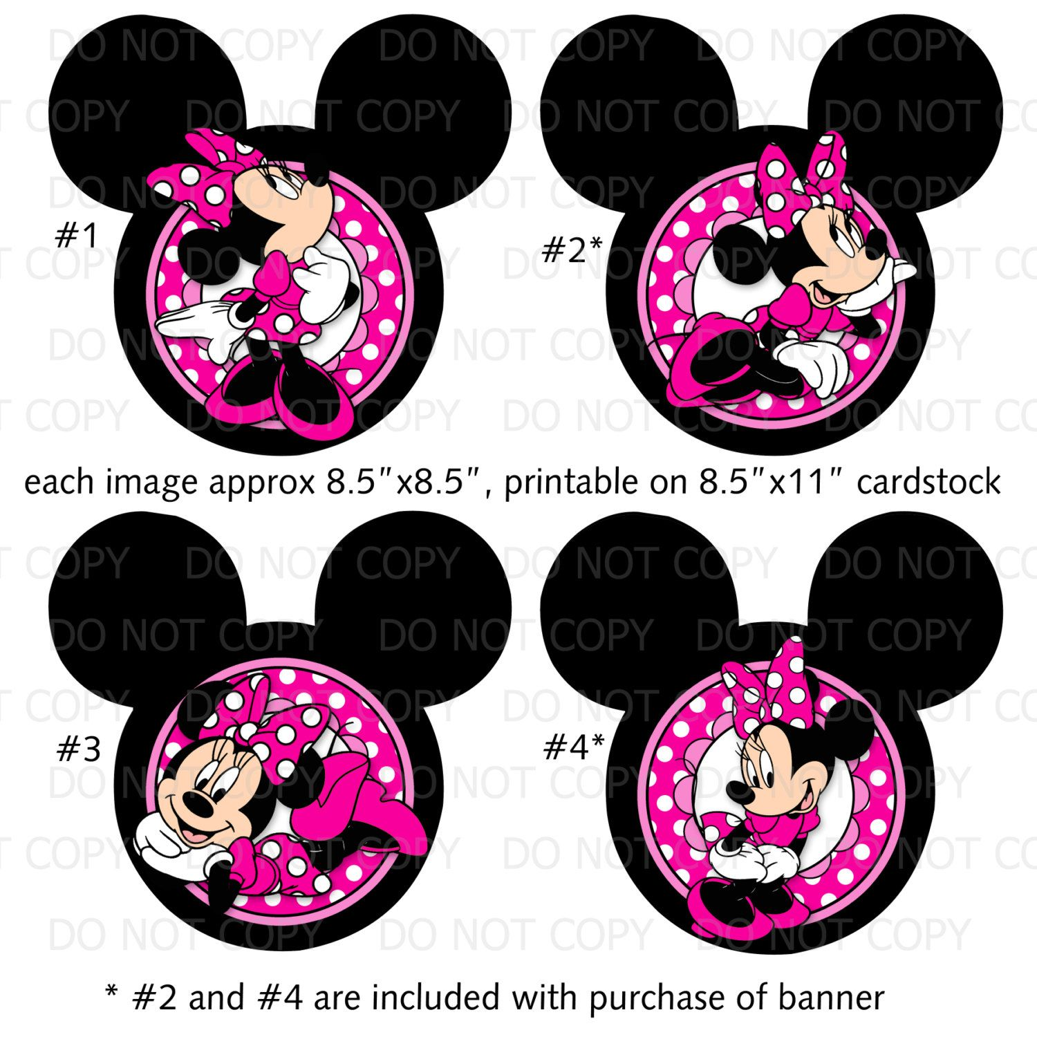 printable diy minnie mouse inspired theme birthday party centerpiece