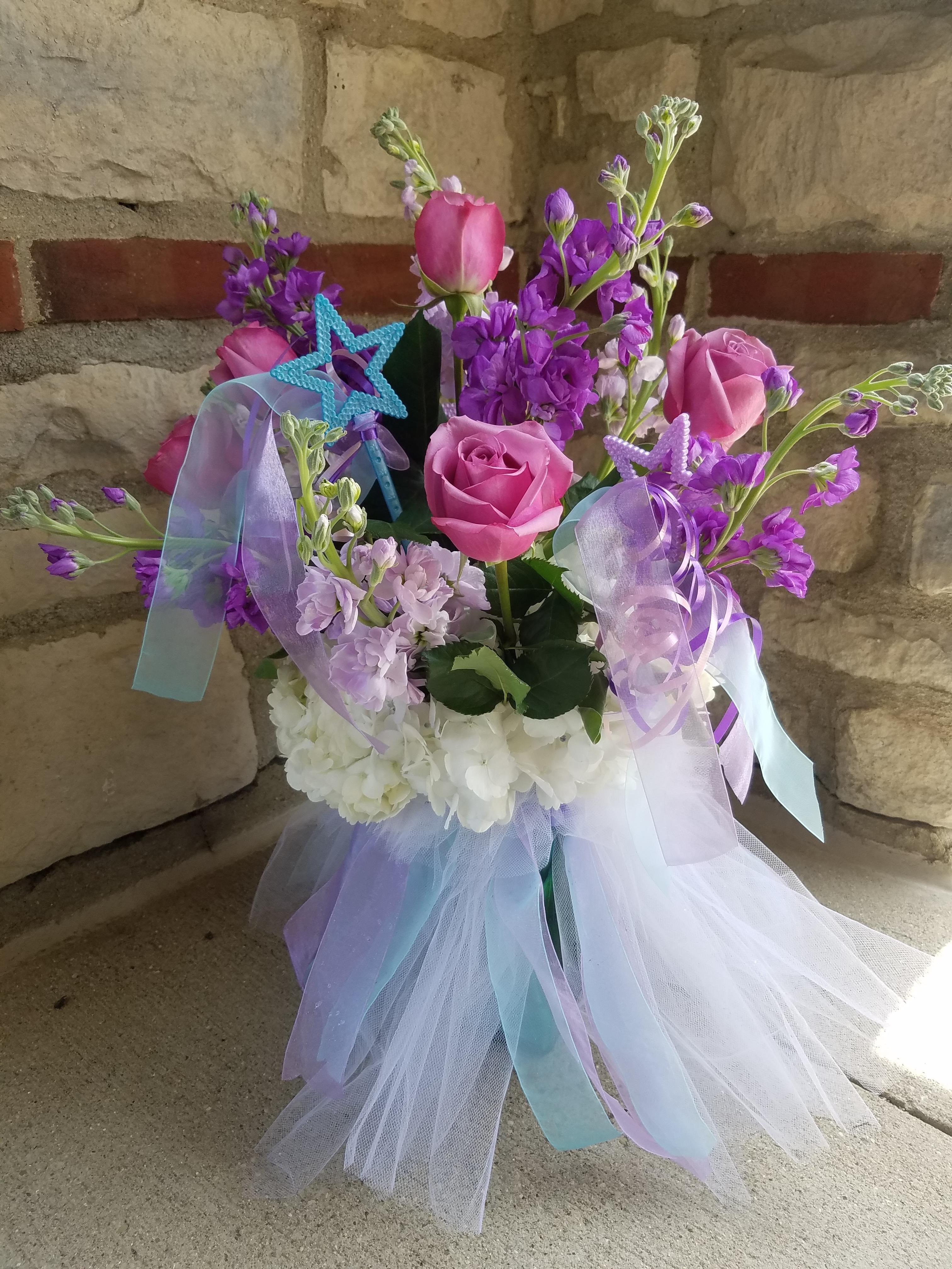Ballerina tutu arrangement fresh flower delivery flower