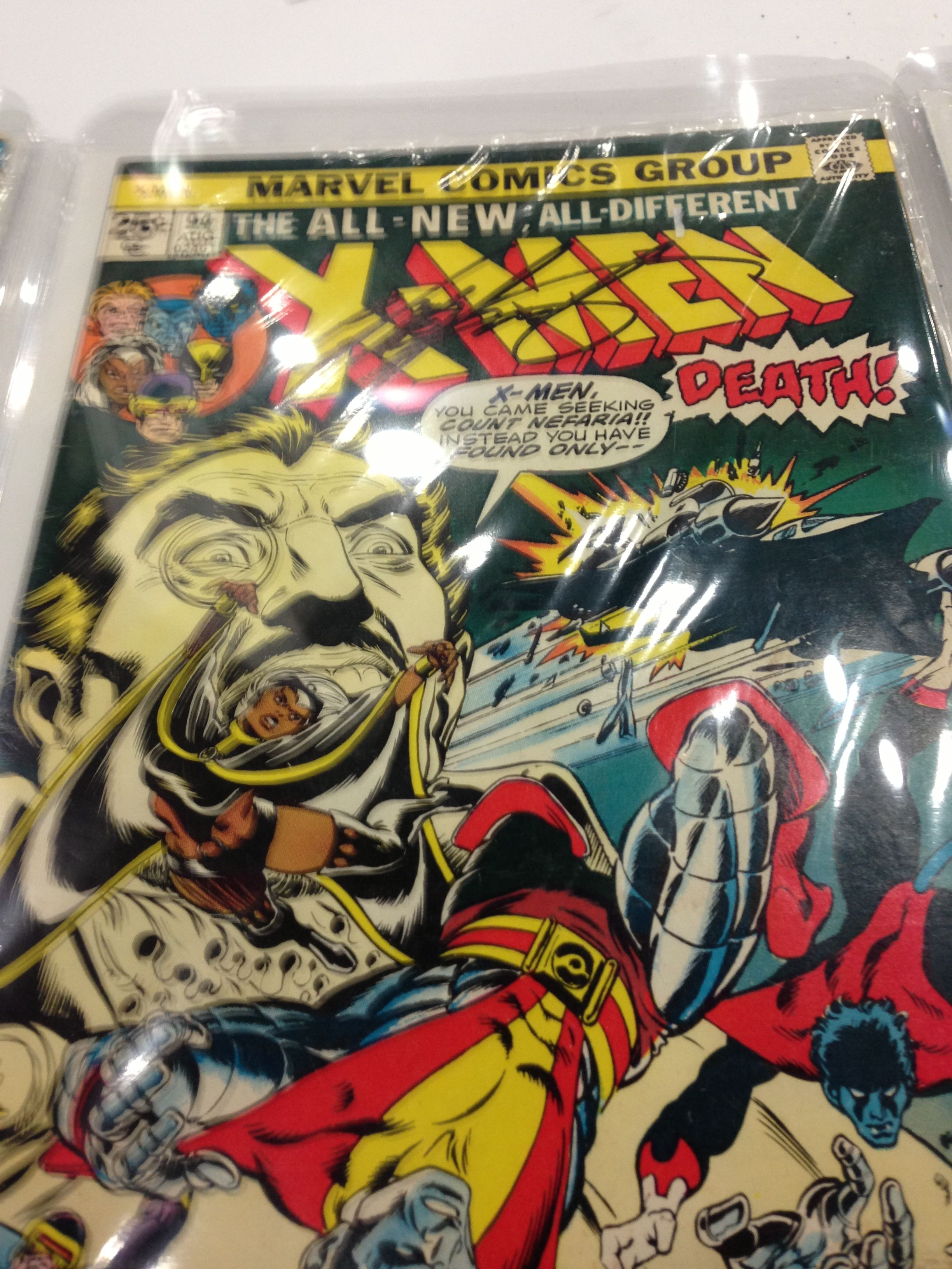 Uncanny X Men 94 Signed By Writer Chris Claremont 1st Issue With The New X Men Team Comic Book Cover Claremont Book Cover
