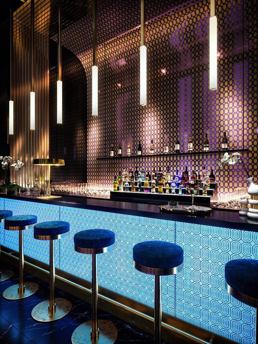 Glass Mosaic Spectro By Mutaforma Luxury Bar Bar Counter Design