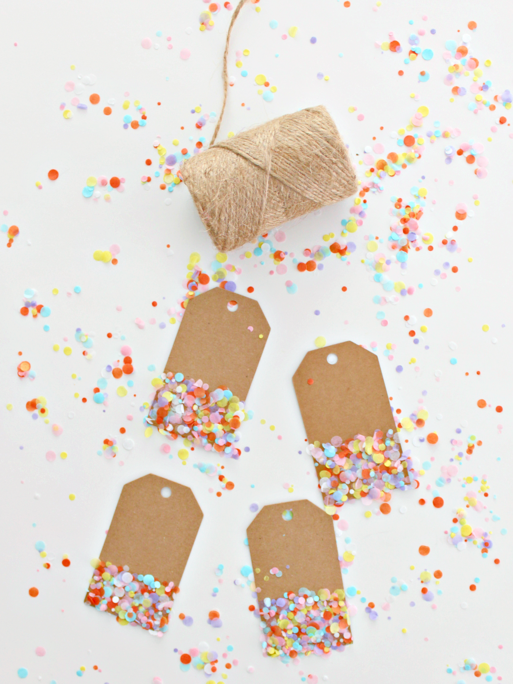 Birthdays in my family are already upon us, and I thought for a fun, colourful craft, why not make confetti tags!To make them, I usedtissue paper from a