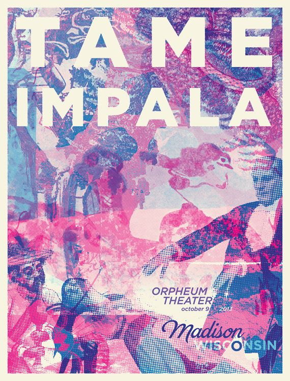 Tame Impala Poster Madison Music Artwork Music Poster Poster