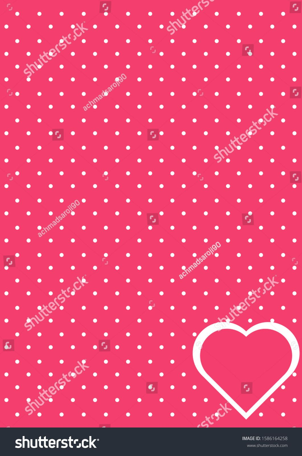 background pink polkadot love romance stock vector royalty free 1586164258 polka dots royalty free background pinterest