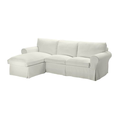 EKTORP Loveseat and chaise lounge - Stenåsa white - IKEA  sc 1 st  Pinterest : ektorp chaise lounge - Sectionals, Sofas & Couches