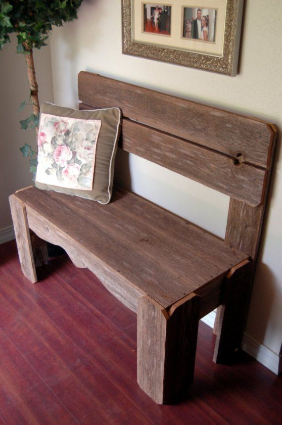 Reclaimed Rustic Wood Bench Charming Rustic Furniture