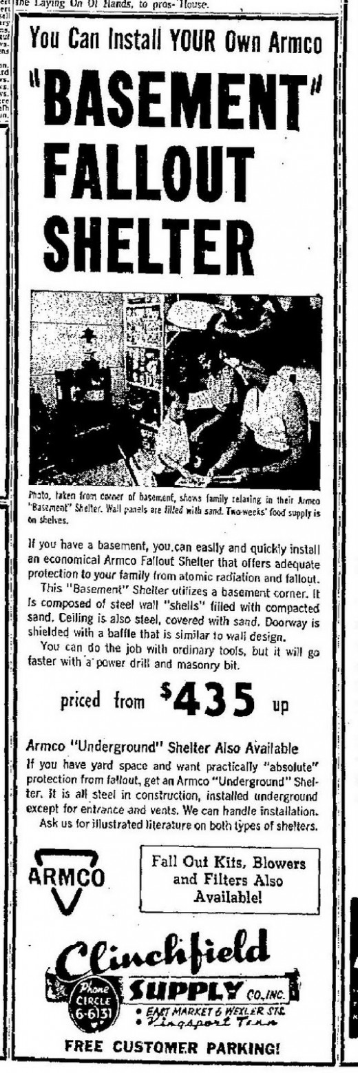 basement fallout shelter 1960s this advertisement is unique in