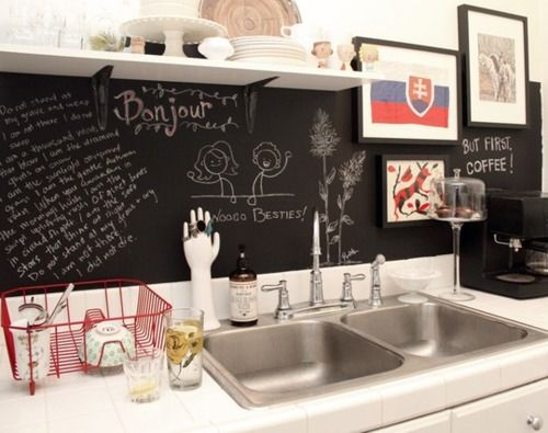 Blackboard as backsplash!