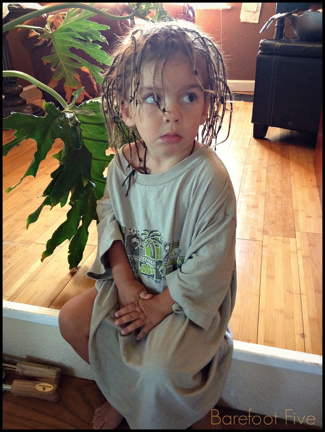 Bare Feet Daddys T-shirt Baby Dreads Pouty Lip