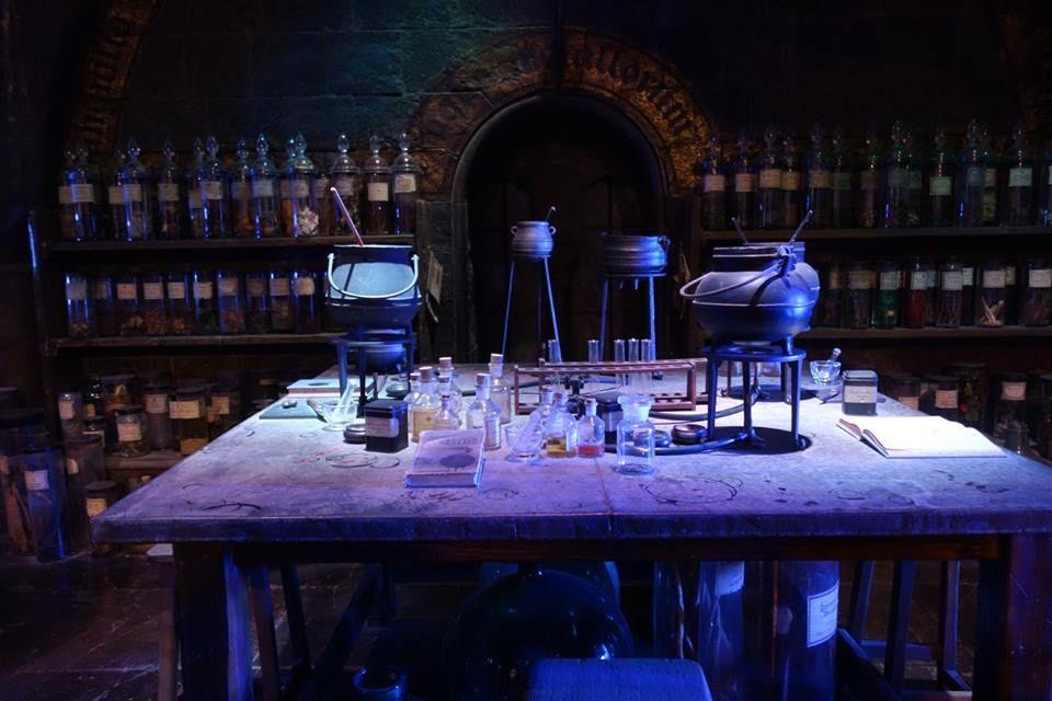 Potions room at Warner bros Studio Tour