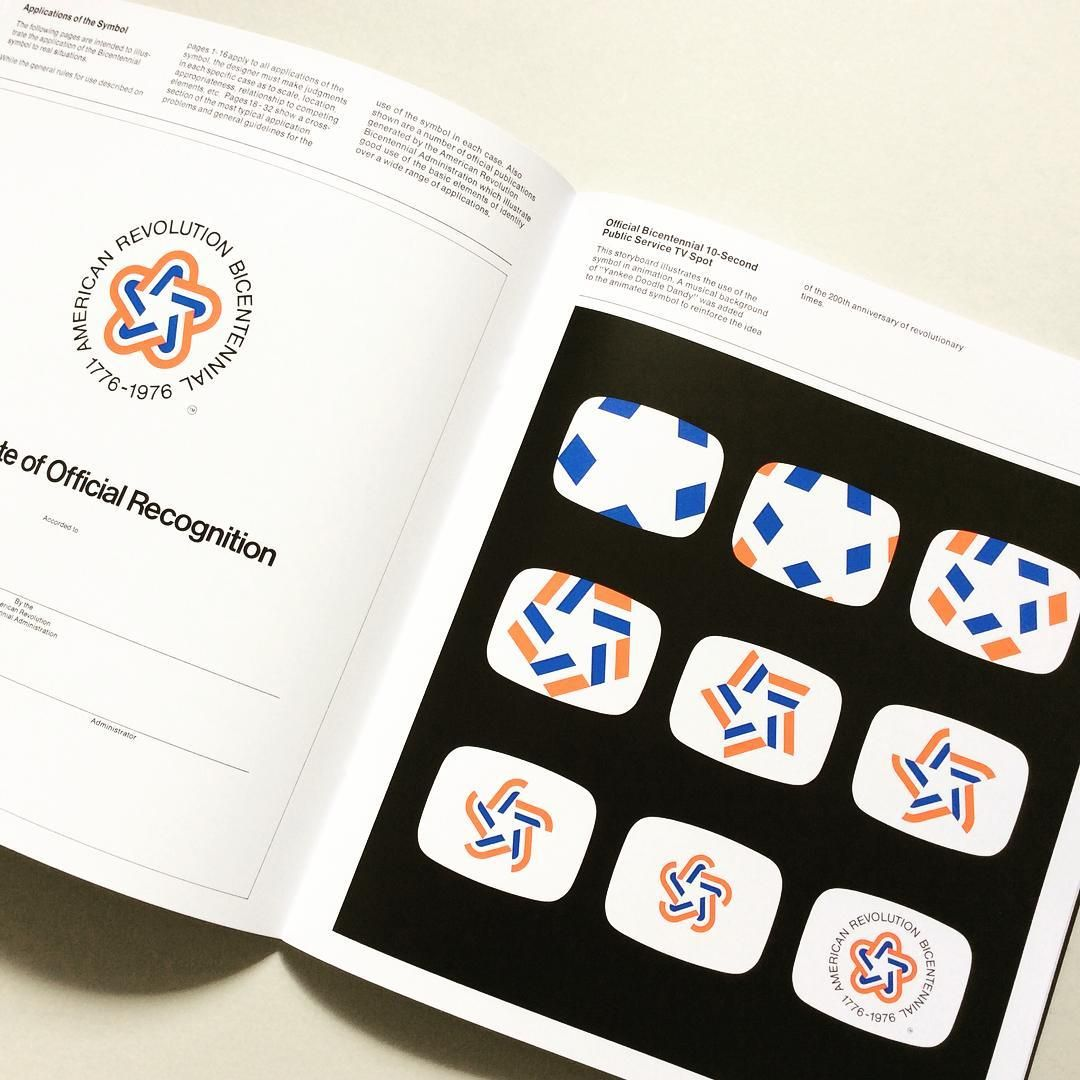 New Title on CP: Spread taken from 'The American Revolution Bicentennial Graphics Standards Manual' which is now available on Counter-Print.co.uk. #counterprintbooks
