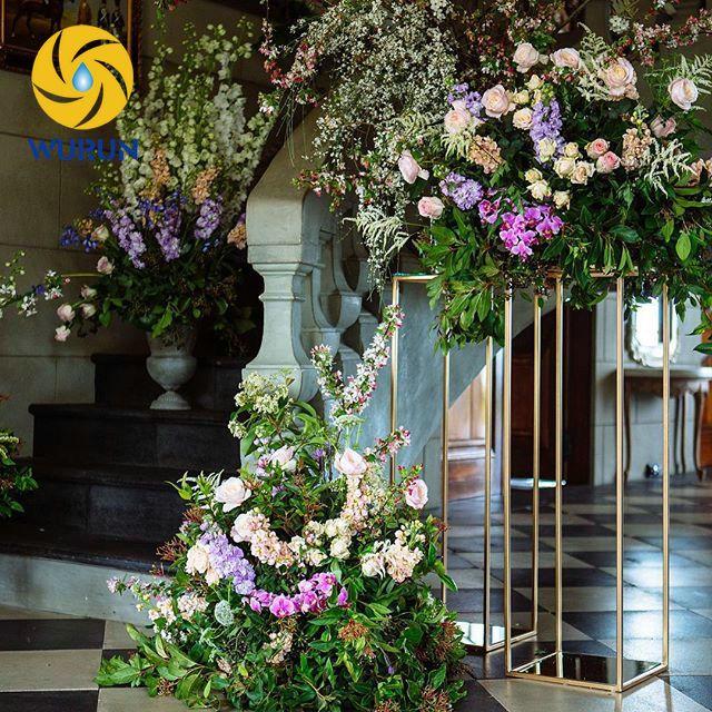 Indoor Decoration Tall Table Standing Metal Flower Display Rack ...