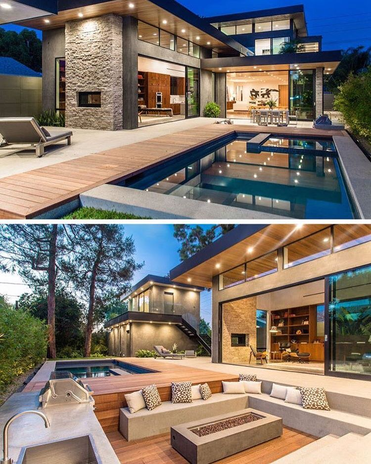 sunken outdoor lounge  braai splash pool  Dream House